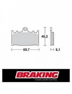 Braking 715CM55 front sintered brake pads for Kawasaki