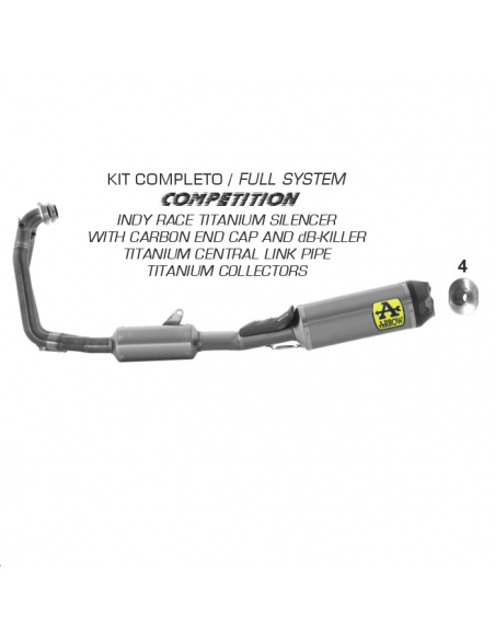 Arrow 71215CKZ Motorcycle complete exhaust system